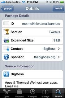 SmallBanners iOS Cydia