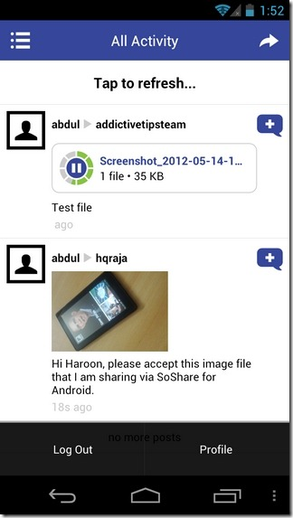 SoShare-Android-Home
