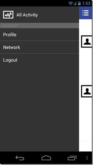 SoShare-Android-Side-Pane
