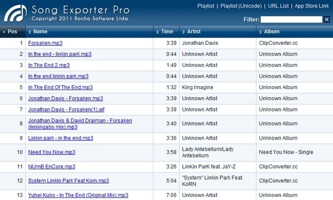 Song Exporter Pro Web Interface