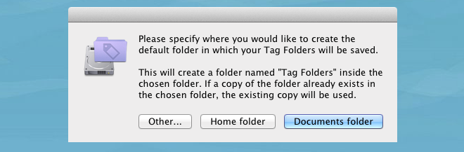 Tag Folders location