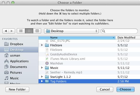 Tag Folders monitor folders
