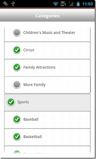 Ticketmaster-Android-Categories