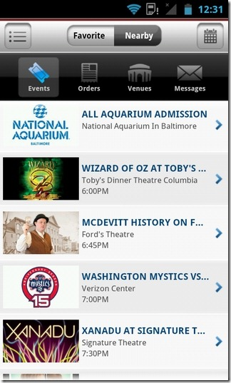 Ticketmaster-Android-Home