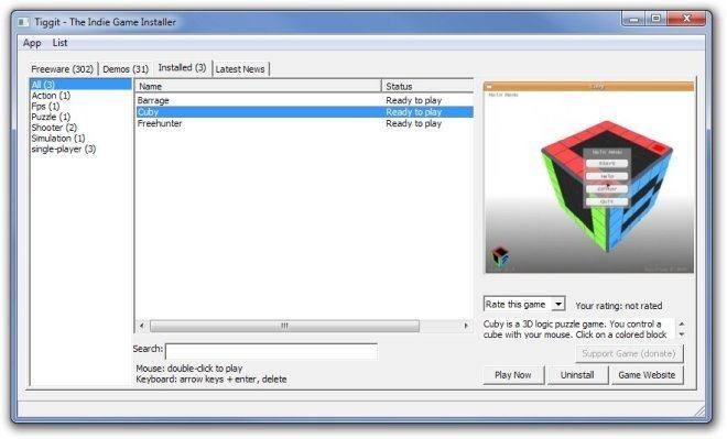Tiggit - The Indie Game Installer