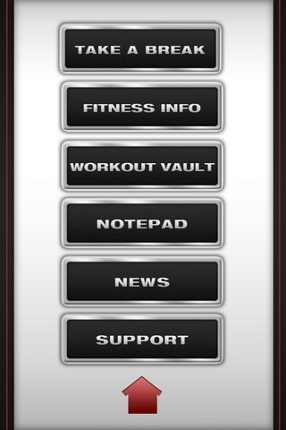 Ultimate Fitness App Menu