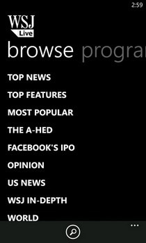 WSJ Live Categories