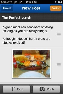 Weebly iPhone Post