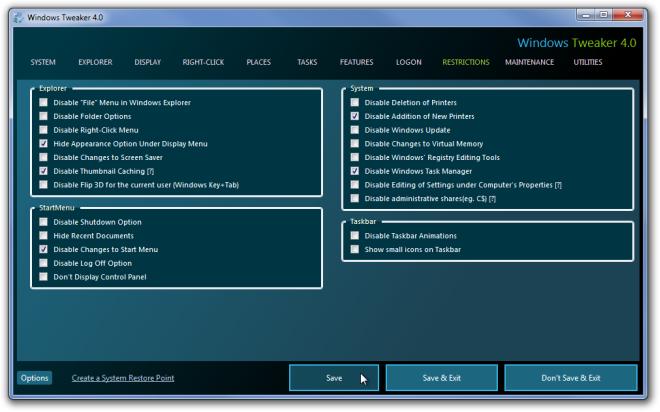 Windows Tweaker 4.0.png Restrictions