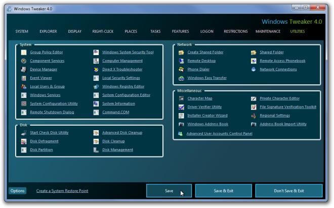 Windows Tweaker 4.0.png Utilities