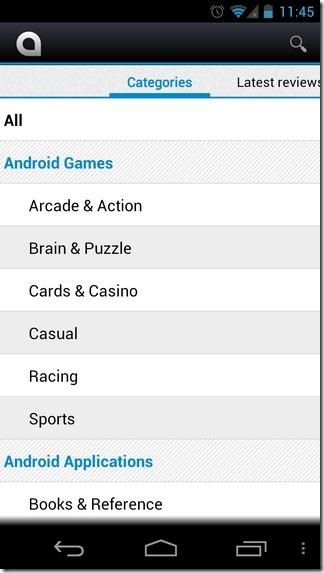 AndroidZoom-Andorid-Categories