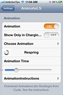 AnimateLockscreen Settings