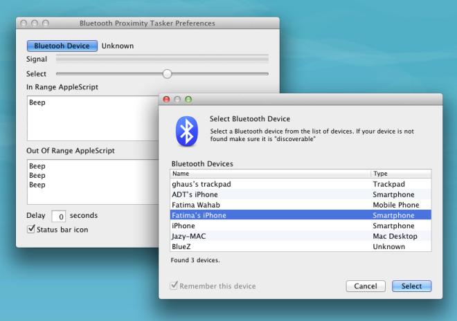 Bluetooth Proximity Tasker device