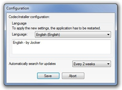 Codec Installer_Configuration