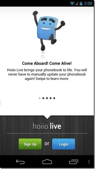 Hoiio-Live-Android-Login