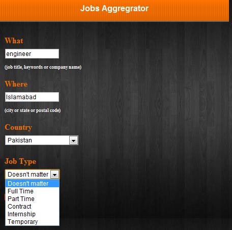 Landing Page- Jobs Aggregator
