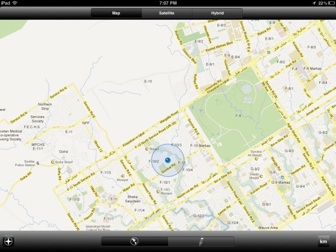 Map Ruler Touch for iPad Start