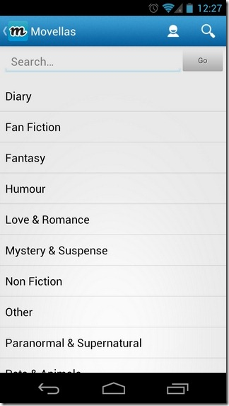 Movellas-Android-Categories
