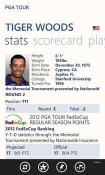 PGA Tour Player Profile
