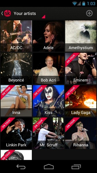 Songkick-Concerts-Android-Artists