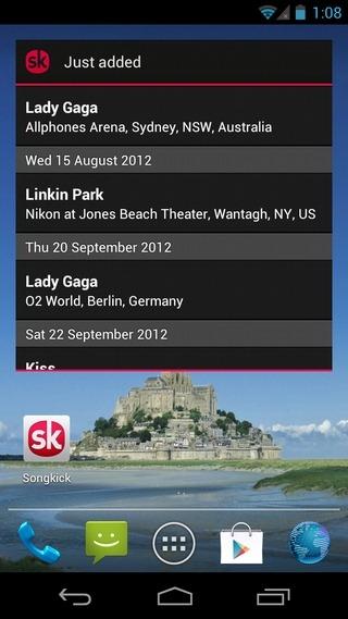 Songkick-Concerts-Android-Widget