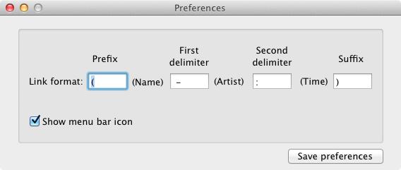 TunesLinker preferences