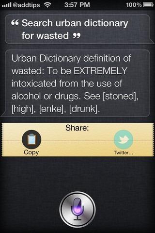 Urban Dictionary Assistant Siri