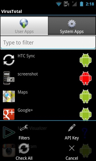 VirusTotal-Android-Home
