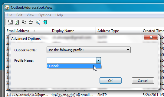 OutlookAdressBookView: View & Export Outlook Address Books' Contacts In HTML/CSV Format