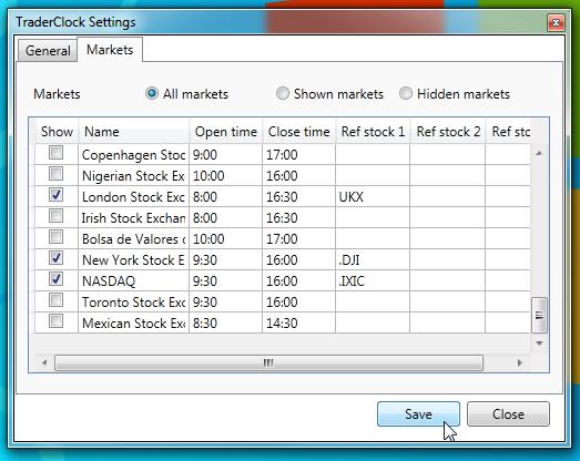 traderclock markets