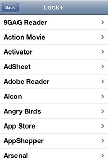 AnyLock App List