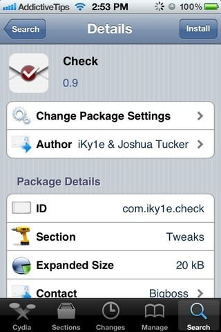 Check Cydia