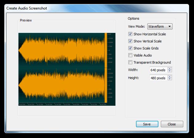 Create Audio Screenshot - Ocenaudio