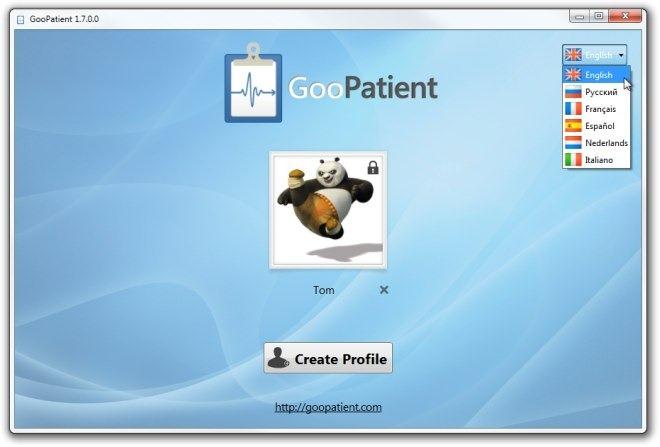 GooPatient Welcome Screen