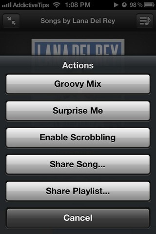 Groove 2 Player Options