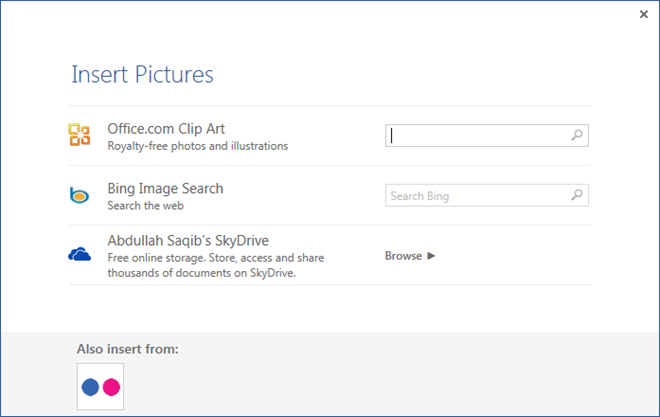 Insert Online Pictures