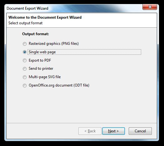 Pencil Document Export Wizard