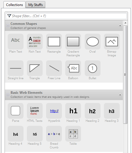 Pencil Shapes and Web elements