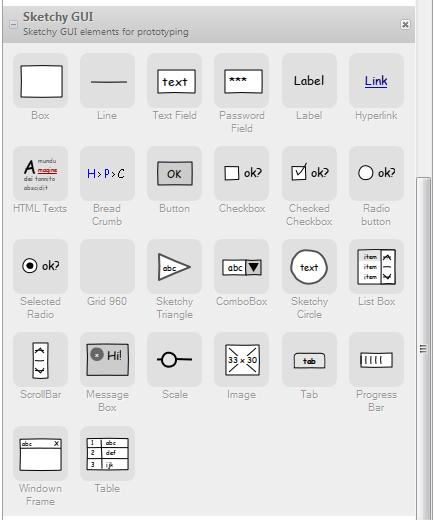 Pencil Sketchy GUI elements