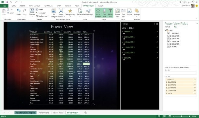 Power View in Excel 2013