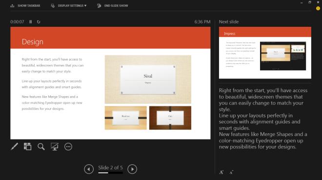 PowerPoint 2013 - Presenter View