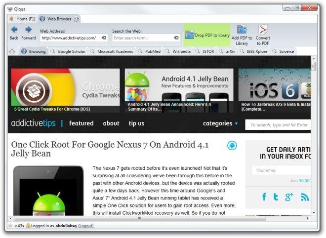 Qiqqa browser