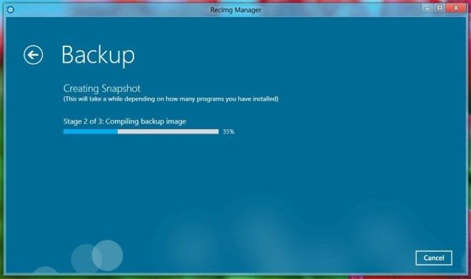 RecImg Manager_Backup Process