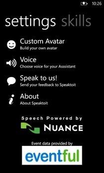 Speaktoit Assistant Settings