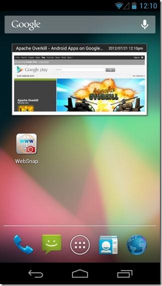 WebSnap-Android-Widget