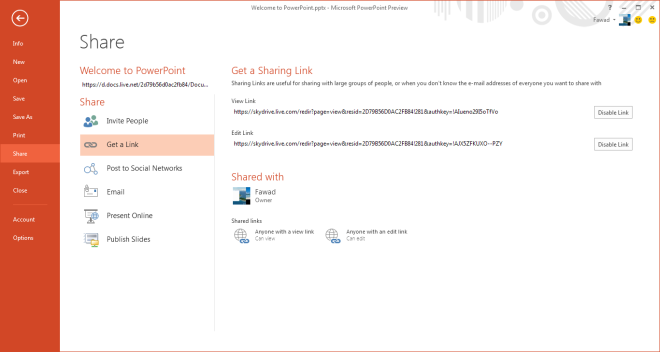 Welcome to PowerPoint.pptx - Microsoft PowerPoint Preview - Share