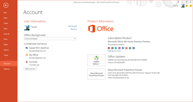 Welcome to PowerPoint.pptx - Microsoft PowerPoint Preview