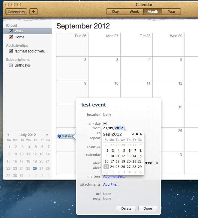 calendar Mountain Lion
