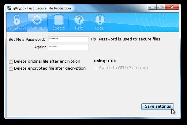 gKrypt - Set password