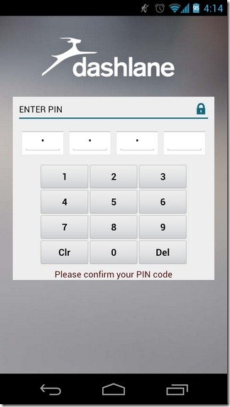 Dashlane-Android-PIN